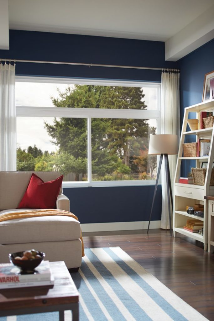 large windows in living room installed by clemens home solutions