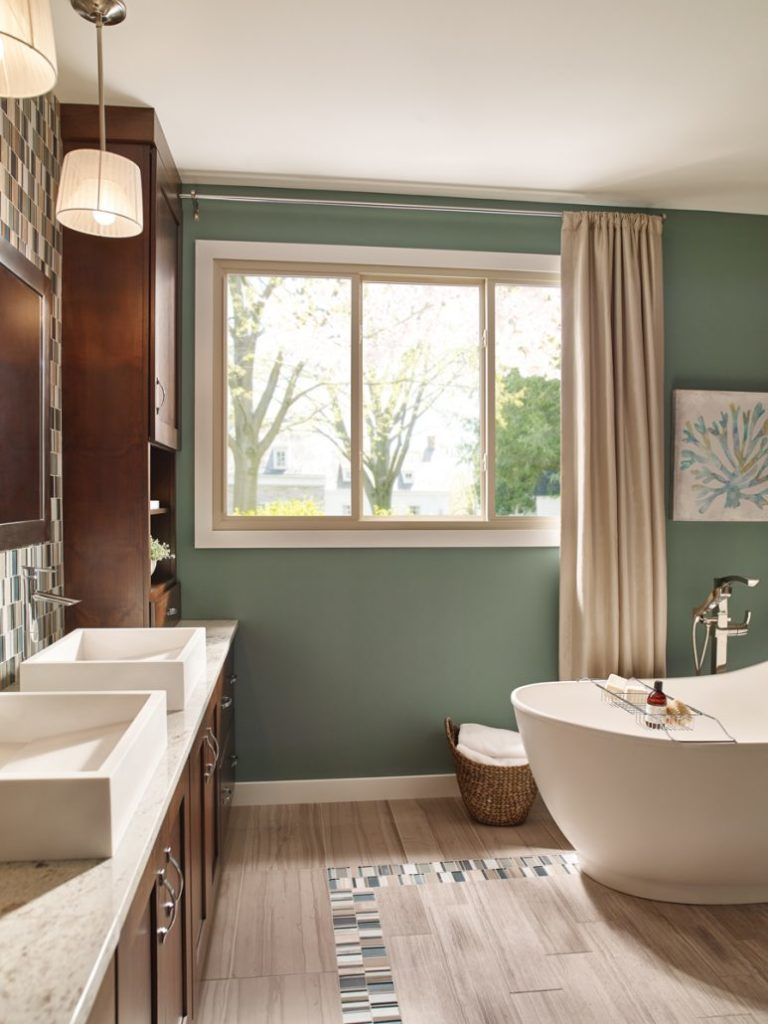 windows in bathroom by tub installed by clemens home solutions