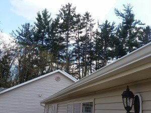 new gutters on home in muncie installed by clemens home solutions