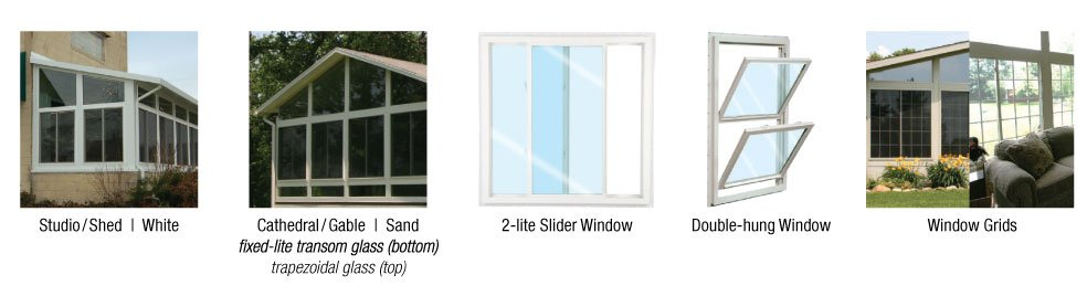 different style of windows