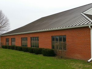 new metal roof and gutters on home in muncie by clemens home solutions