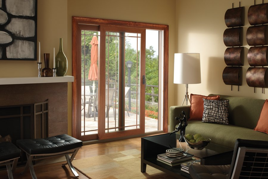 sliding door in living room installed by clemens home solutions