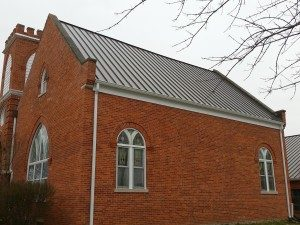 New Metal Roof And Gutters On Home In Muncie Muncie Roofing